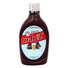 FOX'S U-BET SUGAR FREE CHOCOLATE SYRUP 18 OZ