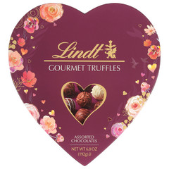 LINDT GOURMET ASSORTED TRUFFLES 7.3 OZ HEART BOX