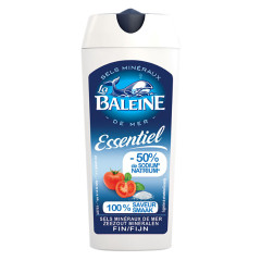 LA BALEINE 50% LESS SODIUM ESSENTIEL SEA SALT 4.4 OZ CANISTER