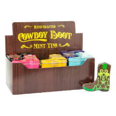COWBOY BOOT ASSORTED MINTS TIN