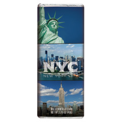 NEW YORK CITY SOUVENIR LANDMARK MILK CHOCOLATE 1.75 OZ BAR