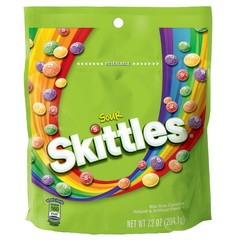 SOUR SKITTLES 7.2 OZ POUCH