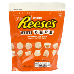 REESE'S PEANUT BUTTER WHITE MINI CUPS 7.6 OZ POUCH