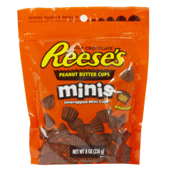 REESE'S PEANUT BUTTER MINI CUPS 7.6 OZ POUCH