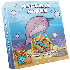 AMUSEMINTS NARWHAL HORNS 6 OZ BOX