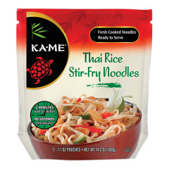 KAME THAI RICE STIR FRY NOODLES 14.2 OZ POUCH