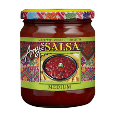 AMY'S MEDIUM SALSA 14.7 OZ JAR