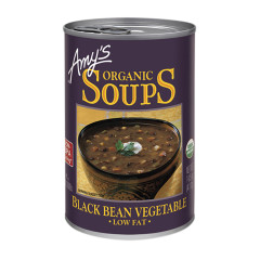 AMY'S ORGANIC BLACK BEAN VEGETABLE SOUP 14.5 OZ CAN