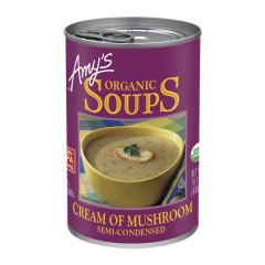 AMY'S ORGANIC CREAM OF MUSHROOM SOUP 14.1 OZ CAN