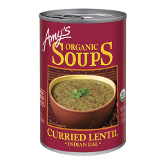 AMY'S ORGANIC CURRIED LENTIL SOUP 14.5 OZ CAN