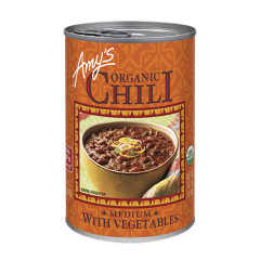 AMY'S ORGANIC MEDIUM CHILI WITH VEGETABLES 14.7 OZ CAN
