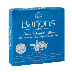 BARTONS KOSHER FOR PASSOVER DARK CHOCOLATE HAZELNUT MATZO 10 OZ BOX