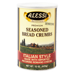 ALESSI ITALIAN STYLE SEASONED BREAD CRUMBS 15 OZ CANISTER