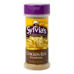 SYLVIA'S CHICKEN RUB SEASONING 4 OZ SHAKER