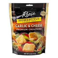 REESE HOMESTYLE GARLIC & CHEESE CROUTONS 5 OZ POUCH