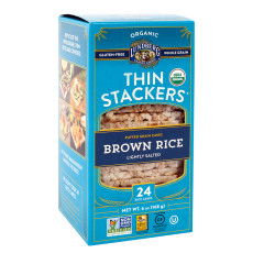 LUNDBERG ORGANIC THIN STACKERS BROWN RICE CAKES WITH SALT 6 OZ BOX