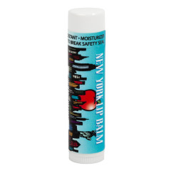 NYC SOUVENIR SKYLINE APPLE 0.16 OZ LIP BALM