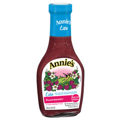 ANNIE'S LITE RASPBERRY VINAIGRETTE DRESSING 8 OZ BOTTLE