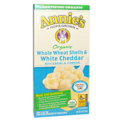 ANNIE'S ORGANIC WHOLE WHEAT & WHITE CHEDDAR MAC & CHEESE 6 OZ BOX