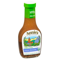 ANNIE'S ORGANIC ASIAN SESAME DRESSING 8 OZ BOTTLE