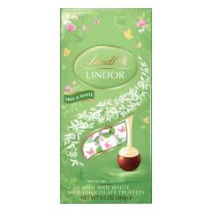 LINDT SPRING LINDOR MILK CHOCOLATE WITH WHITE CHOCOLATE TRUFFLES 8.5 OZ BAG