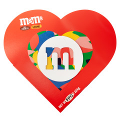M&M'S MILK CHOCOLATE AND CARAMEL MIX 6.12 OZ HEART BOX