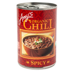 AMY'S ORGANIC SPICY CHILI 14.7 OZ CAN