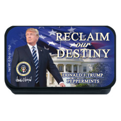NYC SOUVENIR PEPPERMINT DONALD TRUMP 0.56 OZ SLYDER TIN