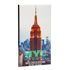 NYC SOUVENIR EMPIRE STATE BUILDING LIT MILK CHOCOLATE 3 OZ WRAPPER BAR