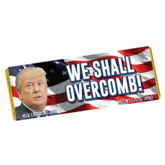 NYC SOUVENIR WE SHALL OVERCOMB 1.75 OZ MILK CHOCOLATE WRAPPER BAR