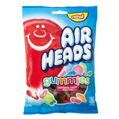 AIRHEADS GUMMIES 6 OZ PEG BAG