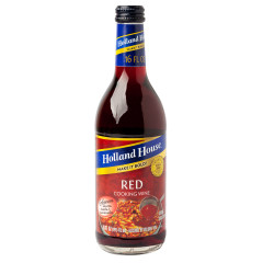 HOLLAND HOUSE 10% RED COOKING WINE 16 OZ BOTTLE