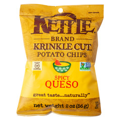 KETTLE KRINKLE CUT SPICY QUESO 2 OZ BAG