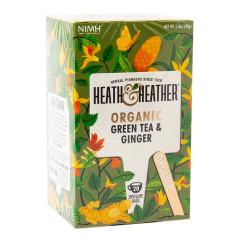 HEATH & HEATHER ORGANIC GREEN TEA W WITH GINGER 20 CT BOX