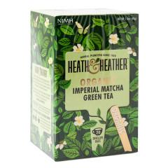 HEATH & HEATHER ORGANIC IMPERIAL MATCHA GREEN TEA 20 CT BOX