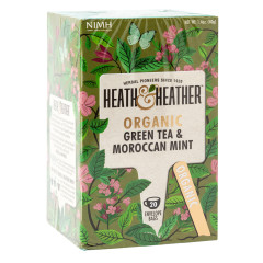 HEATH & HEATHER ORGANIC GREEN TEA WITH MOROCCAN MINT 20 CT BOX