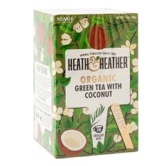 HEATH & HEATHER ORGANIC GREEN TEA WITH COCONUT 20 CT BOX