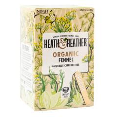 HEATH & HEATHER ORGANIC FENNEL TEA 20 CT BOX