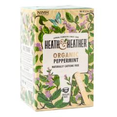 HEATH & HEATHER ORGANIC PEPPERMINT TEA 20 CT BOX