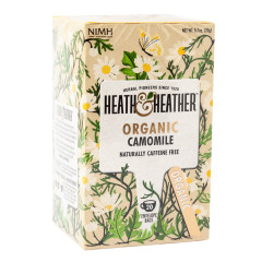 HEATH & HEATHER ORGANIC CAMOMILE TEA 20 CT BOX