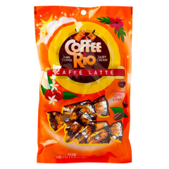 COFFEE RIO CAFFE LATTE PREMIUM COFFEE CANDY 5.5 OZ PEG BAG *SF DC ONLY*