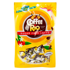 COFFEE RIO SUGAR FREE LATTE PREMIUM COFFEE CANDY 3 OZ PEG BAG *SF DC ONLY*