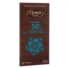 CEMOI 50% COCOA MILK CHOCOLATE ECUADOR 3 OZ BAR