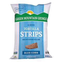 GREEN MOUNTAIN GRINGO ORGANIC BLUE TORTILLA STRIPS 8 OZ BAG
