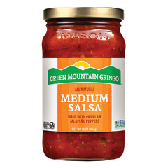 GREEN MOUNTAIN GRINGO MEDIUM SALSA 16 OZ JAR