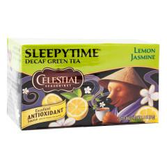 CELESTIAL SEASONINGS DECAF SLEEPYTIME GREEN TEA 20 CT BOX