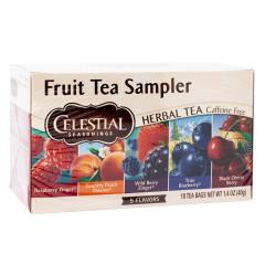 CELESTIAL SEASONINGS FRUIT TEA SAMPLER 18 CT BOX