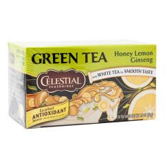 CELESTIAL SEASONINGS HONEY LEMON GINSENG GREEN TEA 20 CT BOX