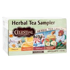 CELESTIAL SEASONINGS HERBAL TEA SAMPLER 18 CT BOX