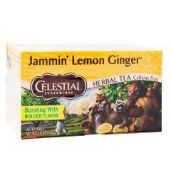CELESTIAL SEASONINGS JAMMIN' LEMON GINGER TEA 20 CT BOX